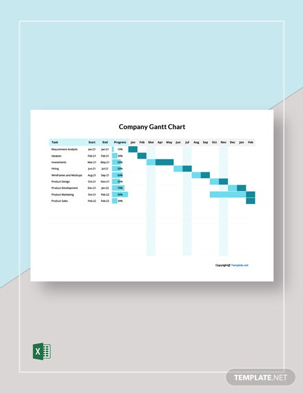 Free Simple Company Gantt Chart Template