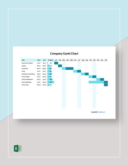 Free Simple Company Gantt Chart Template