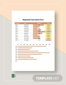 Repeated Task Gantt Chart Template