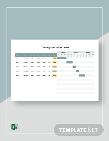 Training Plan Gantt Chart Template