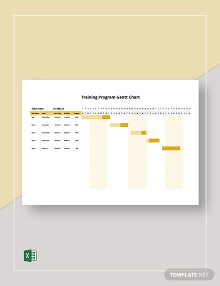 Training Program Gantt Chart Template