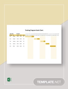Training Program Gantt Chart Template