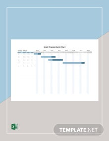 Grant Proposal Gantt Chart Template