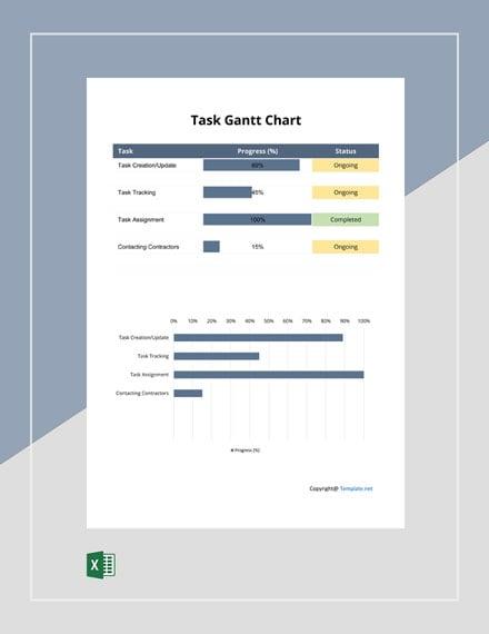 Free Simple Task Gantt Chart Template
