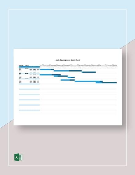 Agile Development Gantt Chart Template