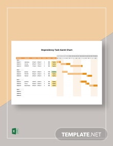 Dependency Task Gantt Chart Template