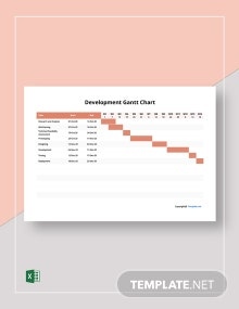 Free Sample Development Gantt Chart Template