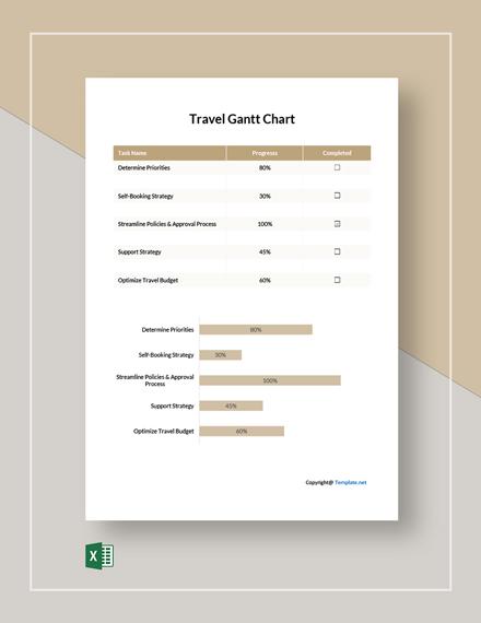 Free Example Travel Gantt Chart Template