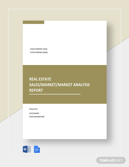 Free Sample Real Estate Report