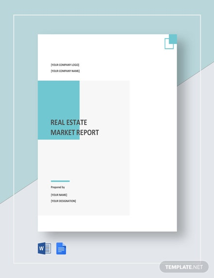 Free Real Estate Market Report Template