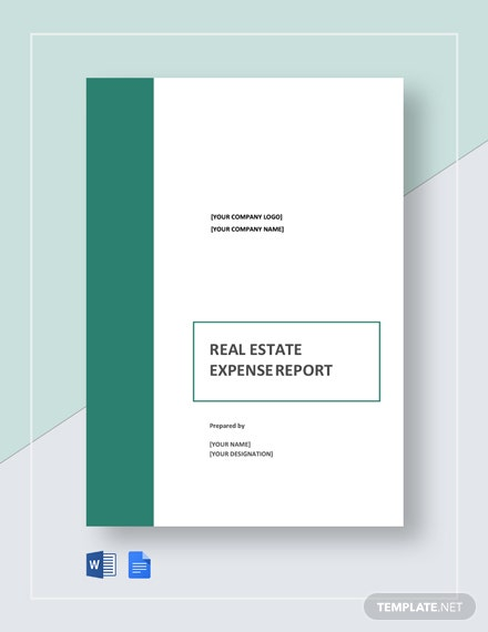 Free Real Estate Expense Report Template