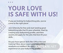 Baby Sitting Flyer Template