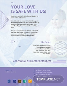 Free Baby Sitting Flyer Template