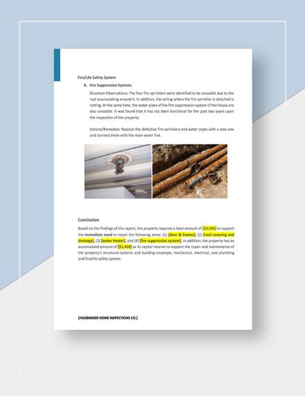 Editable Buyers Property Inspection Report