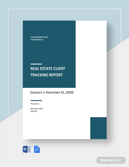 Real Estate Client Tracking Report Template