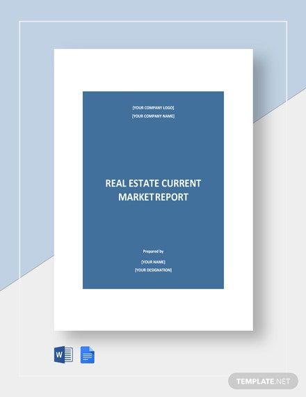 Real Estate Current Report Template