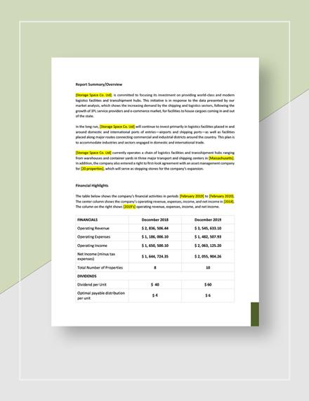 Real Estate Asset Management Report Download