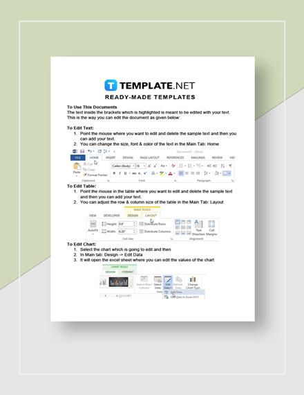 Real Estate Asset Management Report Instructions