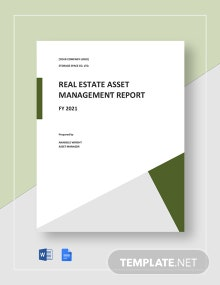 Real Estate Asset Management Report Template