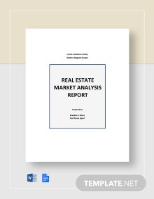 Real Estate Market Analysis Report Template