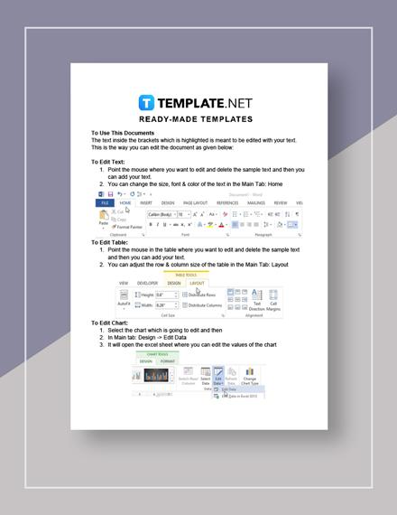 Notice of Rent Default Instruction