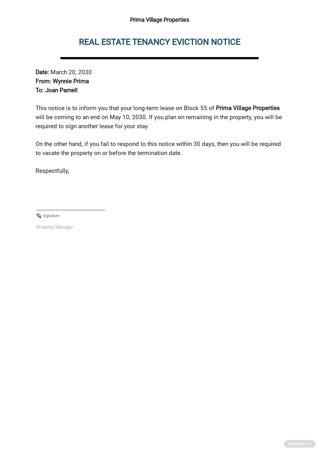 Real Estate Eviction Notice Form Template.jpe