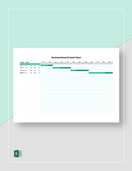 Business Research Gantt Chart Template