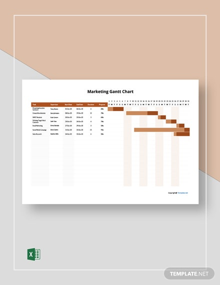 Free Sample Marketing Gantt Chart Template
