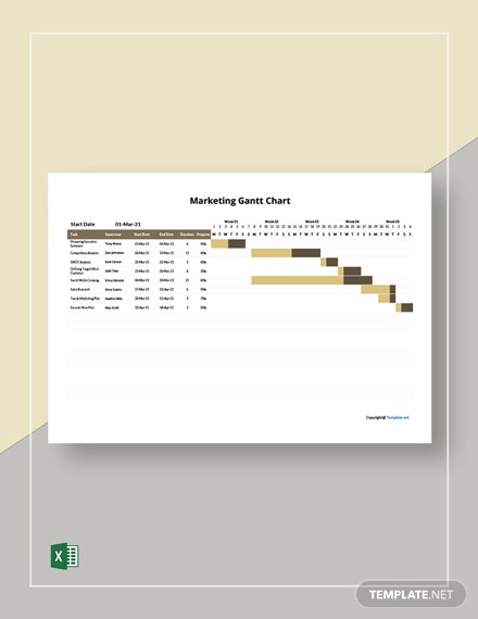 Free Simple Marketing Gantt Chart Template