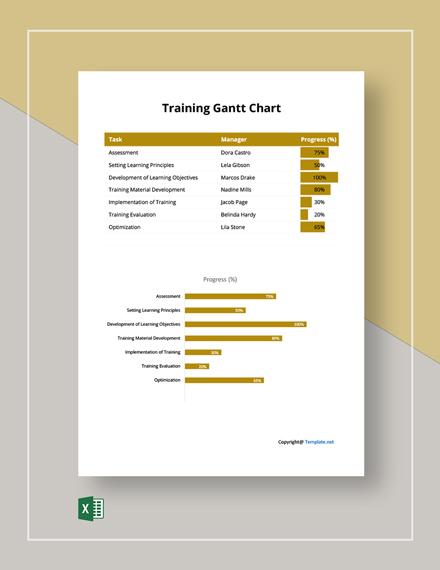 Free Simple Training Gantt Chart Template