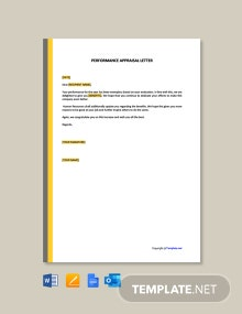 Free Performance Appraisal Letter Template