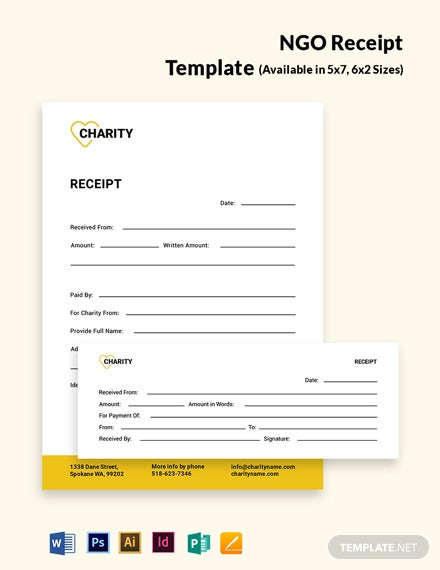 NGO Receipt Template