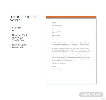 Letter of interest sample template download 700 letters in word letter of interest sample template download 700 letters in word pages google docs template spiritdancerdesigns Choice Image