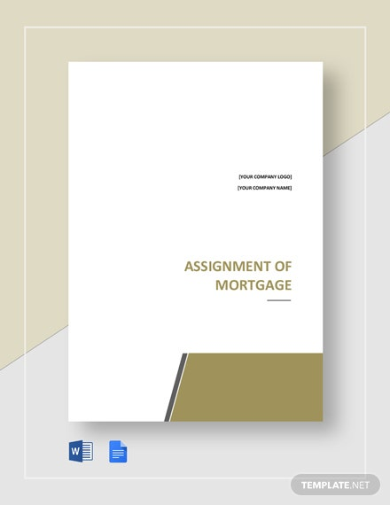 Free Assignment of Mortgage Template