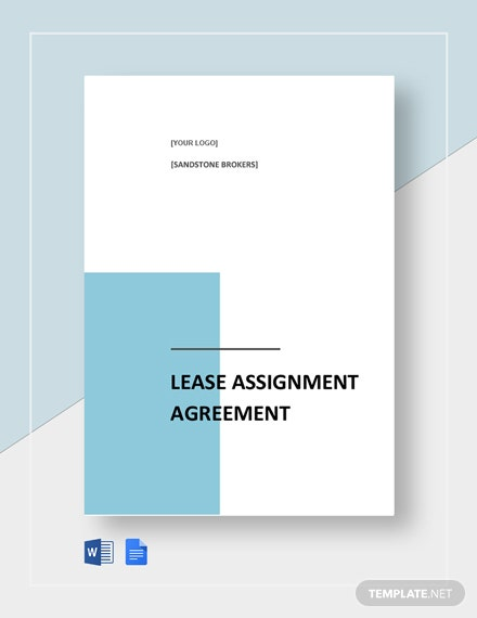 Lease Assignment Agreement Template
