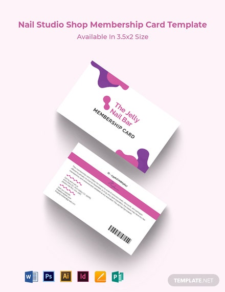 Nail Studio Shop Membership card