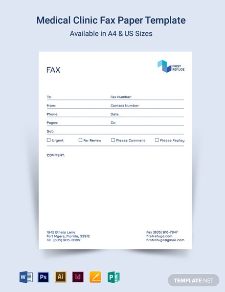 Medical Clinic Fax Template