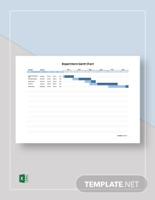 Free Sample Department Gantt Chart Template