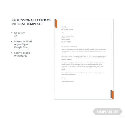 letter of interest sample template in microsoft word apple pages