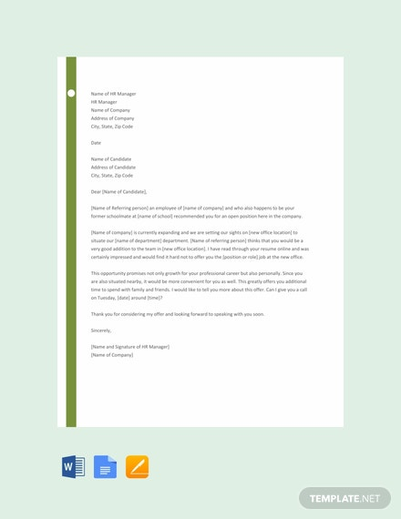 Free Job Proposal Letter Template