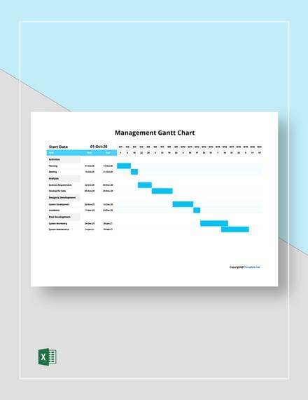 Free Simple Management Gantt Chart Template