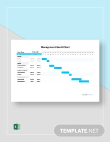 Free Simple Management Gantt Chart Template