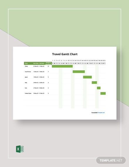 Free Simple Travel Gantt Chart Template