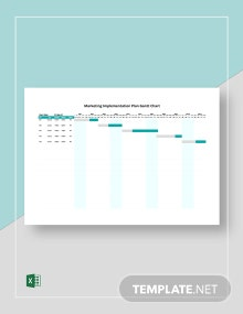 Marketing Implementation Plan Gantt Chart Template