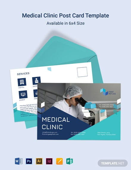 Medical Clinic Postcard Template