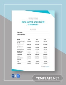 Real Estate Cash Flow Statement Template
