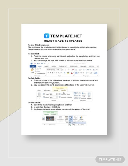 Real Estate Agent Profit And Loss Statement Instructions