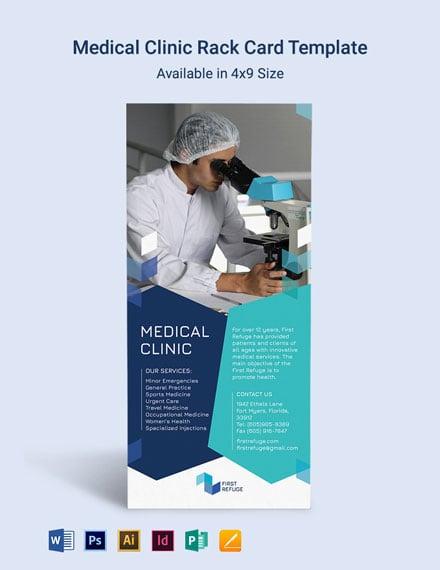 Medical Clinic Rack Card