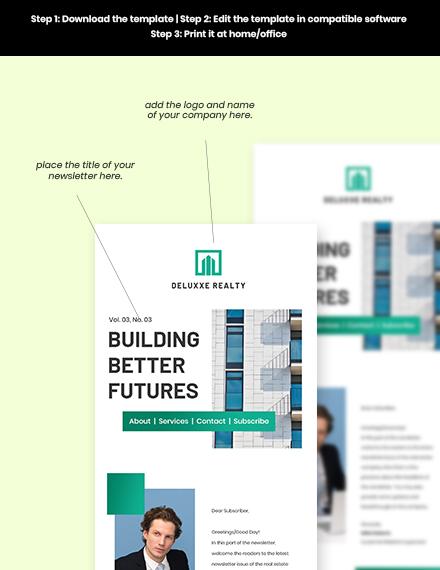 Free Modern Real Estate Newsletter Format