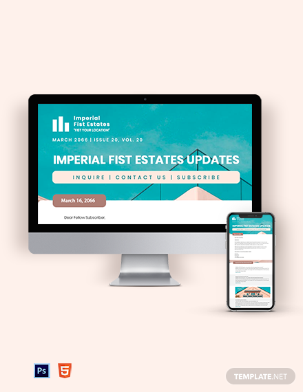 Commercial Real Estate Newsletter Template